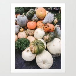 Modern Pumpkin Patch II Art Print