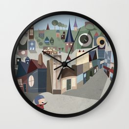 A Boy and his Penguin Wall Clock