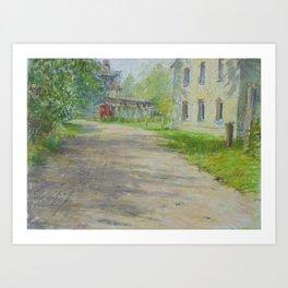Village lane Art Print