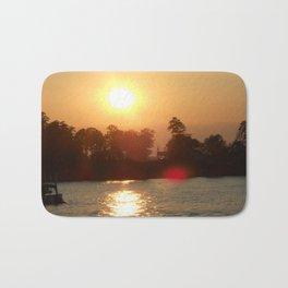 Sunset on the Lake Bath Mat