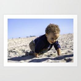Brix crawling in sand Art Print