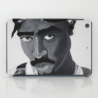 tupac iPad Cases featuring Pop Cult™ - Tupac 2 by Lina Barbarin - Pop Cult™ & Aminals™