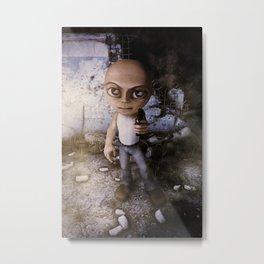 Bad Chibi With A Gun Metal Print