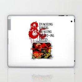 Dungeons & Dragons Stylized black Laptop & iPad Skin