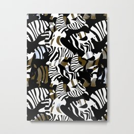 cubist zebra texture Metal Print