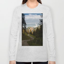 through the woods and over the mountains Long Sleeve T-shirt