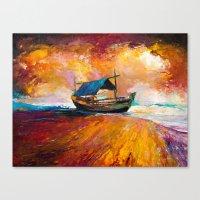 boat Canvas Prints featuring Boat by BOYAN DIMITROV