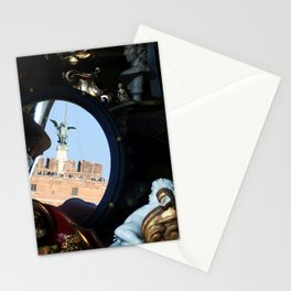 Mirrored St Angel Castle Rome Stationery Cards