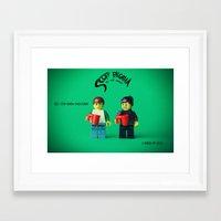 scott pilgrim Framed Art Prints featuring Scott Pilgrim by Studio Ten Media