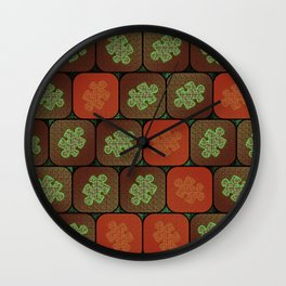 Information puzzle Wall Clock