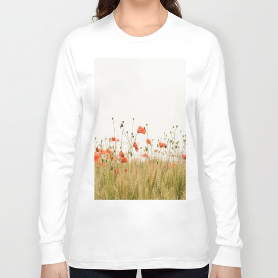 Poppies Coquelicots Long Sleeve T-shirt