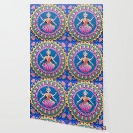 Goddess Lakshmi Lotus Mandala Wallpaper
