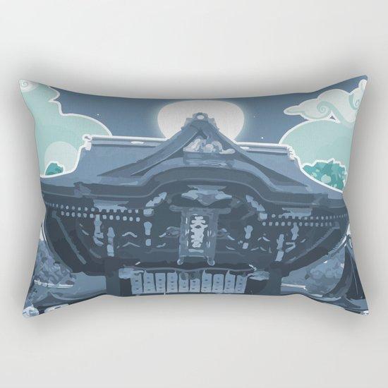 Night in Japan Rectangular Pillow
