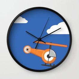 hel.eye.copter Wall Clock