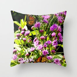 Monarch Butterfly Couple Throw Pillow