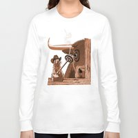 chicago bulls Long Sleeve T-shirts featuring Bulls Eye by Laura Brightwood