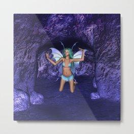 Cave Dweller Fairy Elf Metal Print