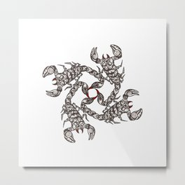 Tribal Scorpions Metal Print