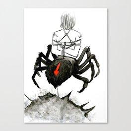 Bondage arachnid Canvas Print