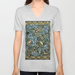 "William Morris ""Birds and Acanthus"" Unisex V-Neck"
