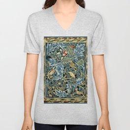"""William Morris """"Birds and Acanthus"""" Unisex V-Neck"""