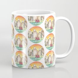 Watercolor Camp Sunset Coffee Mug