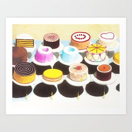 Have Your Cake and Eat it Too portrait painting Art Print