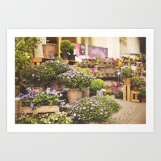 Flower shop in Berlin Art Print