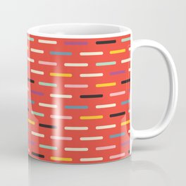 Modern Scandinavian Dash Red Coffee Mug