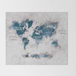 world map 13 #worldmap #map #world Throw Blanket