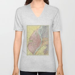 Vintage Map of St Louis MO (1897) Unisex V-Neck