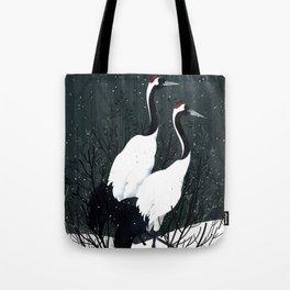 Japanese Cranes / Sayuri Tote Bag