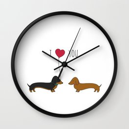 DACHSHUND LOVE Wall Clock