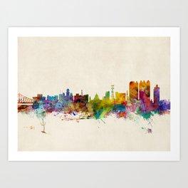 Calcutta (Kolkata) India Skyline Art Print