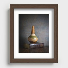 Vase and Book Recessed Framed Print
