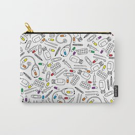 Hospital Pattern Carry-All Pouch
