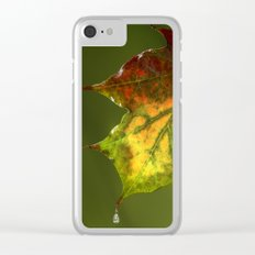 Sugar Coated Maple Leaf Clear iPhone Case