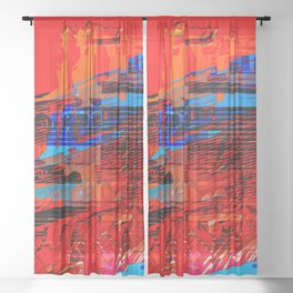City Speed 2049 Sheer Curtain