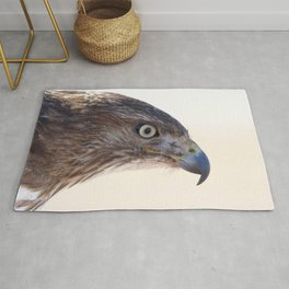 Watercolor Bird Redtail Juvenile Hawk 05, Why the Eagle Eye? Rug