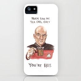 Captain Picard - Tea Earl Grey Hot Funny Illustration iPhone Case