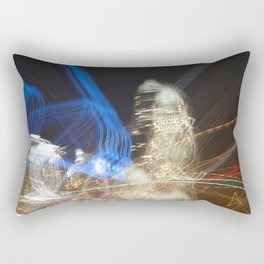 Charlotte, NC Skyline Abstract  Rectangular Pillow