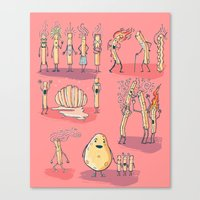 french fries Canvas Prints featuring French fries by bernardojbp