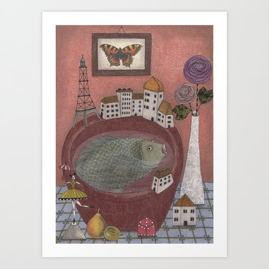 Still life with Gooseberry Art Print