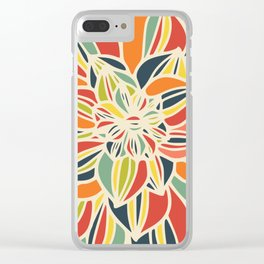 Vintage flower close up Clear iPhone Case
