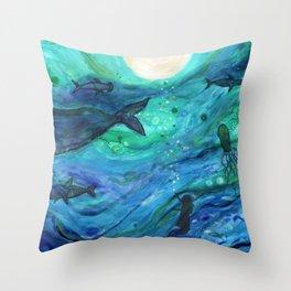"""Dreams of the Deep"" Throw Pillow"