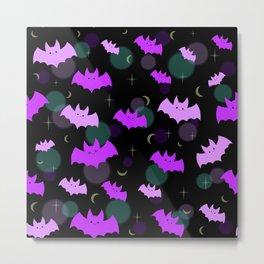 Pastel Bats Metal Print