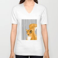 squirrel V-neck T-shirts featuring Squirrel by makoshark