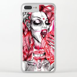 Thelma On Fire Clear iPhone Case