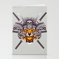 tigger Stationery Cards featuring Tiger Warrior by rendhy wahyu