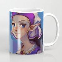 zelda Mugs featuring Princess Zelda by lulles